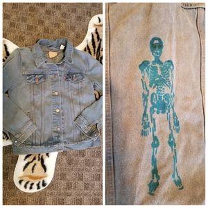 Levi's DIY Skeleton Jean Jacket